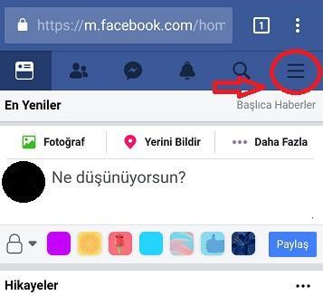 facebook dil ayarları